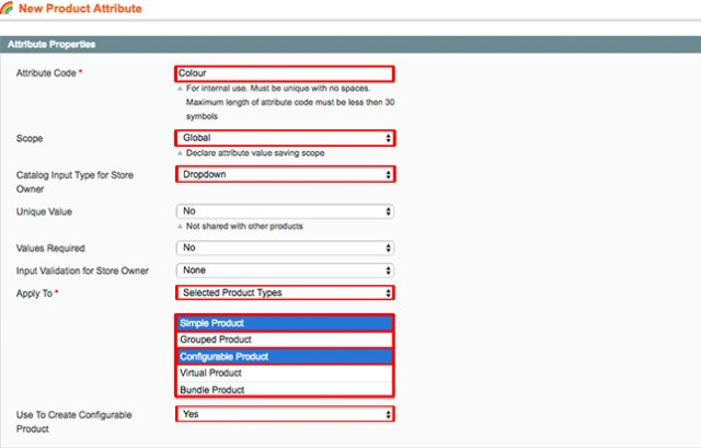 magento product attributes