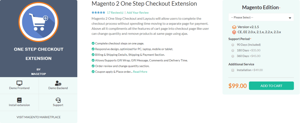Top 10 Magento 2 One Step Checkout Extensions - Magetop Blog