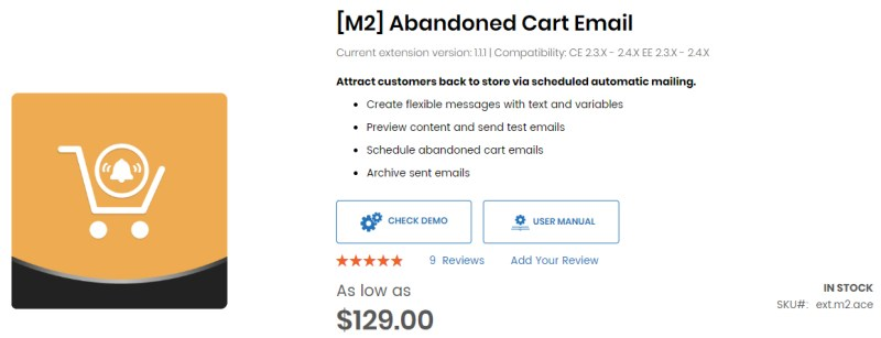[M2] Abandoned Cart Email - Aheadworks