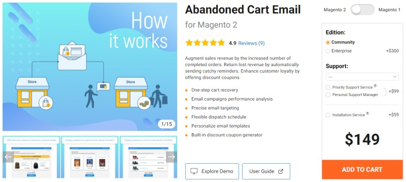 Abandoned Cart Email for Magento 2 - Amasty
