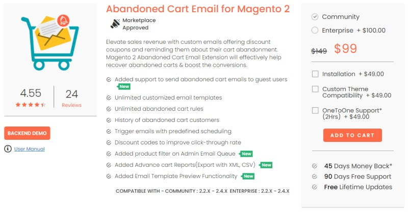 Abandoned Cart Email for Magento 2 - MageDelight