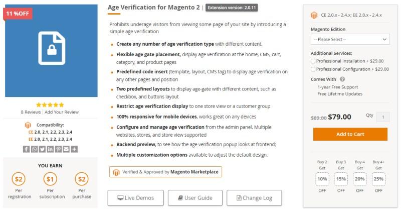 Age Verification for Magento 2 - Ulmod