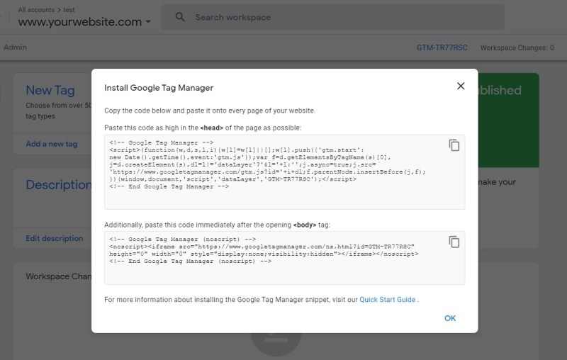 mã Google Tag Manager