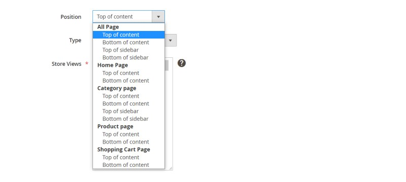 14. Position of Product Slider will display in frontend