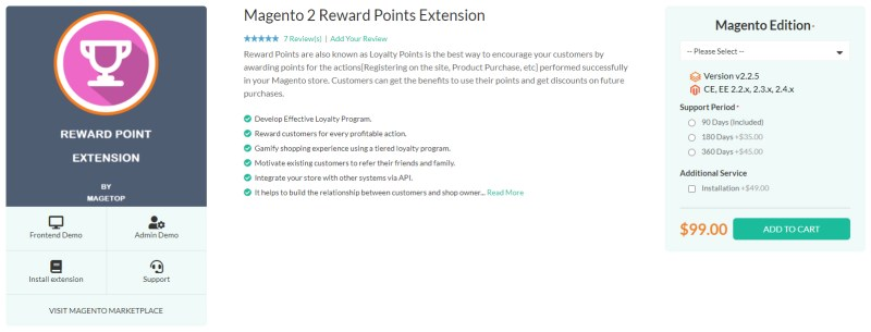 Magetop Reward Points Extension