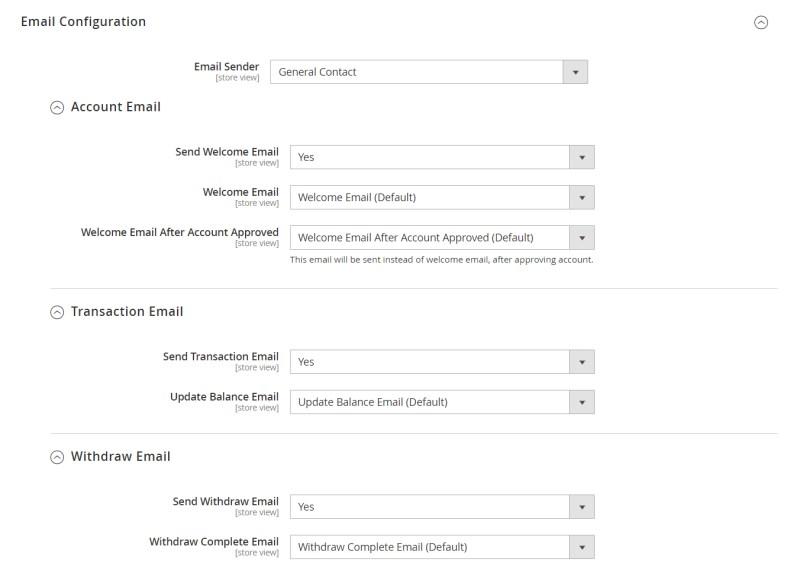 Email Configuration (Configuration)