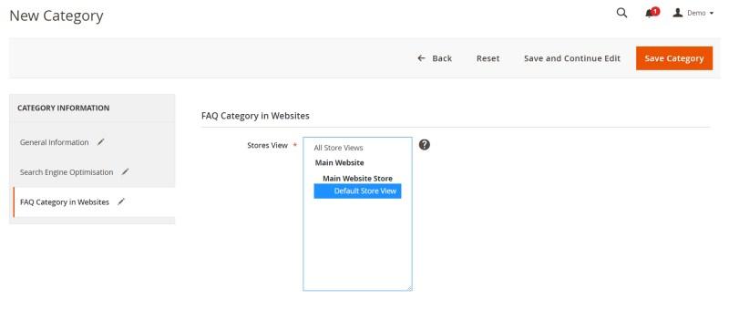 FAQ Category in Websites
