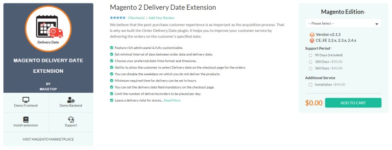 Magetop Delivery Date Extension