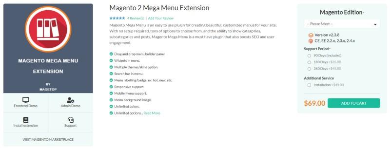 Magetop Mega Menu Extension