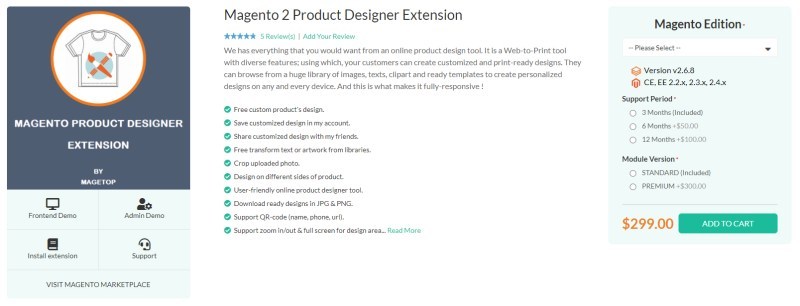 Magetop Product Designer Extension