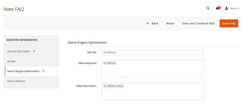 Search Engine Optimisation (New FAQ)