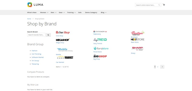 Shop By Brand Main Page