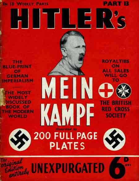 Mein Kampf came in 18 weekly parts