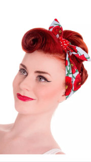 vintage style hair tie band 40's