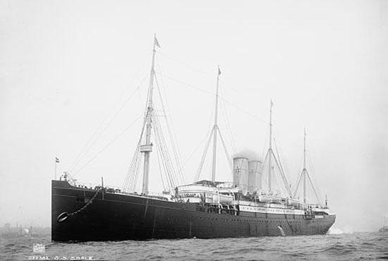 El buque SS Saale, hacia 1890-1895.