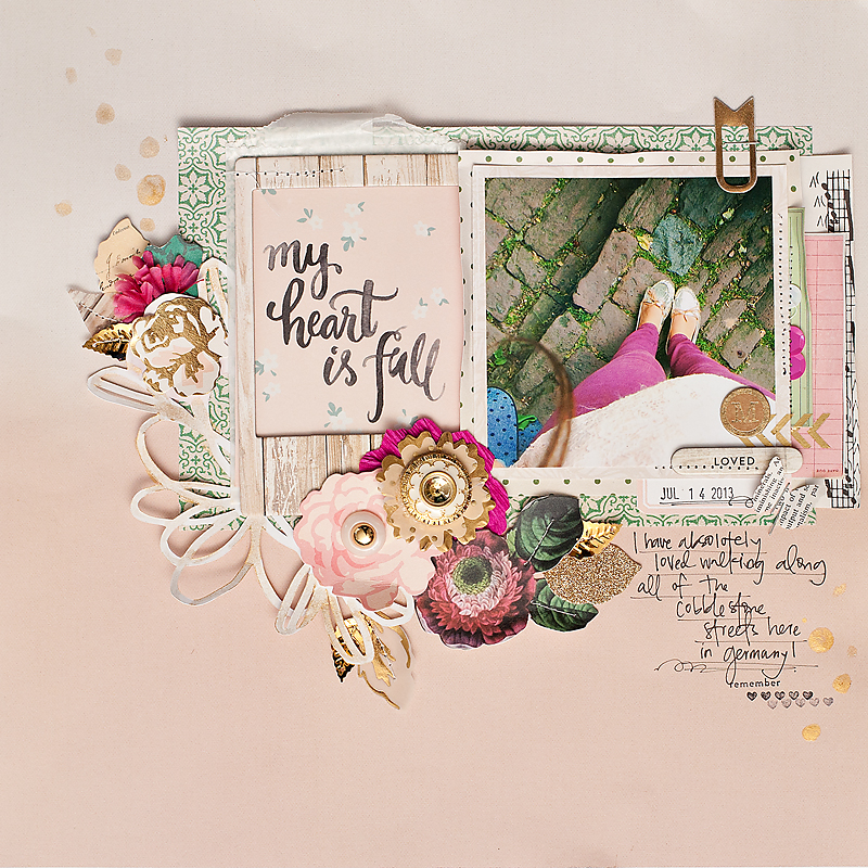 Maggie Holmes My Heart is Full Scrapbook Page-1