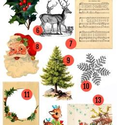 free christmas printable vintage christmas clip art [ 800 x 2139 Pixel ]