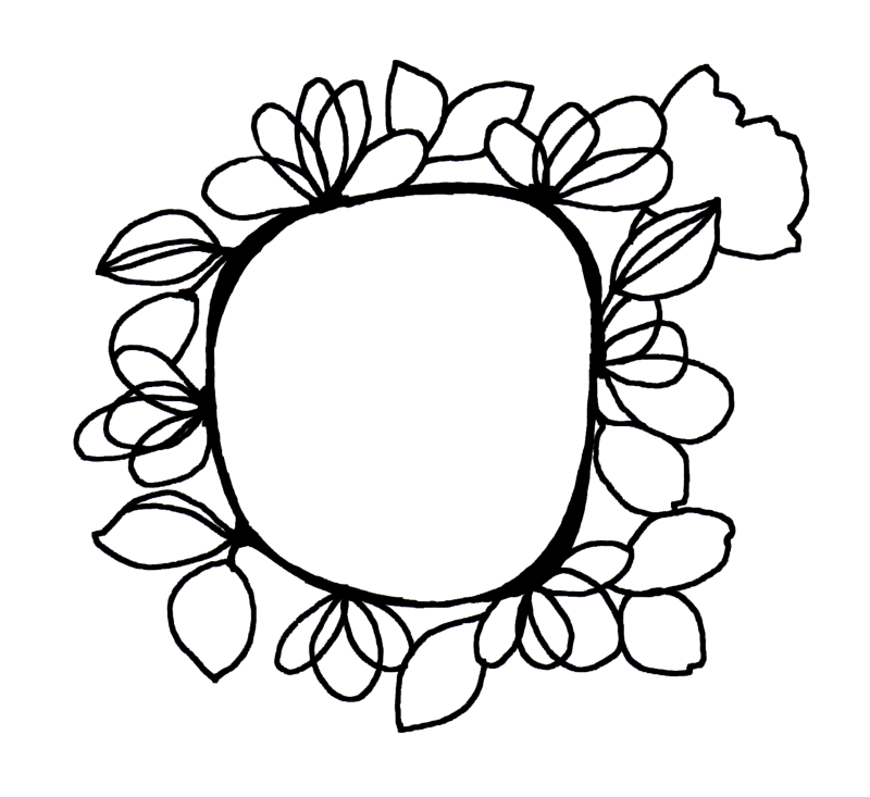 FREE floral frame cut file download