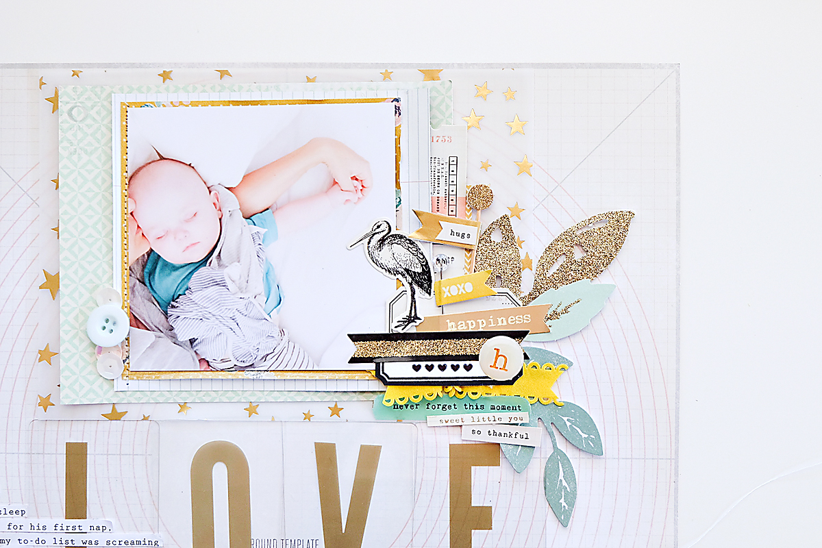 Love This Scrapbook Page using Maggie Holmes Confetti-2