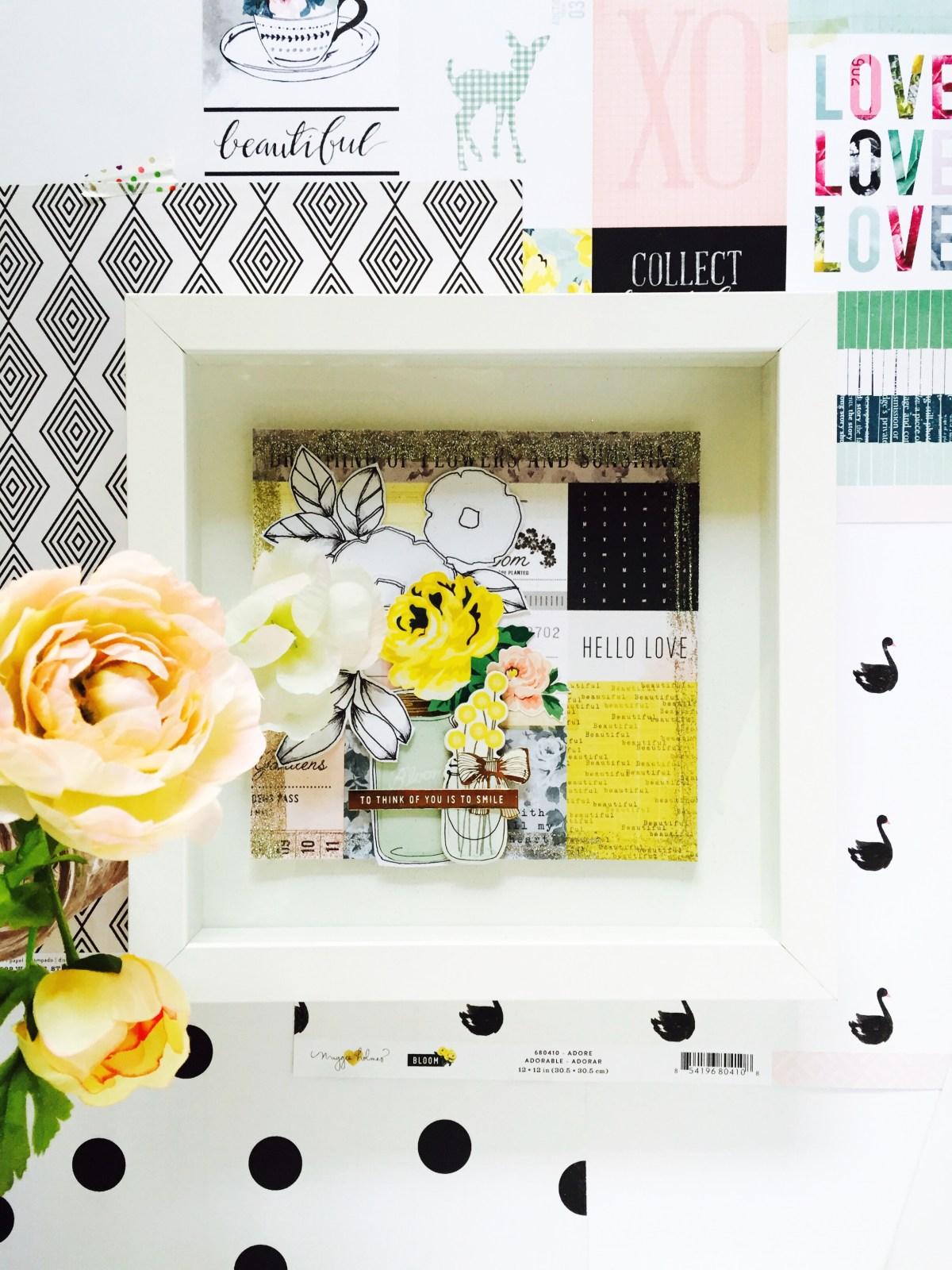 Floral photo frame
