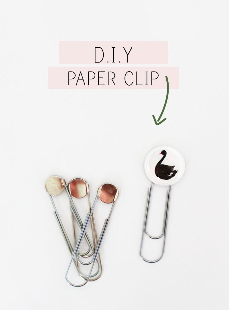 diy swan paper clip