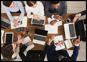 Business people working with computers
