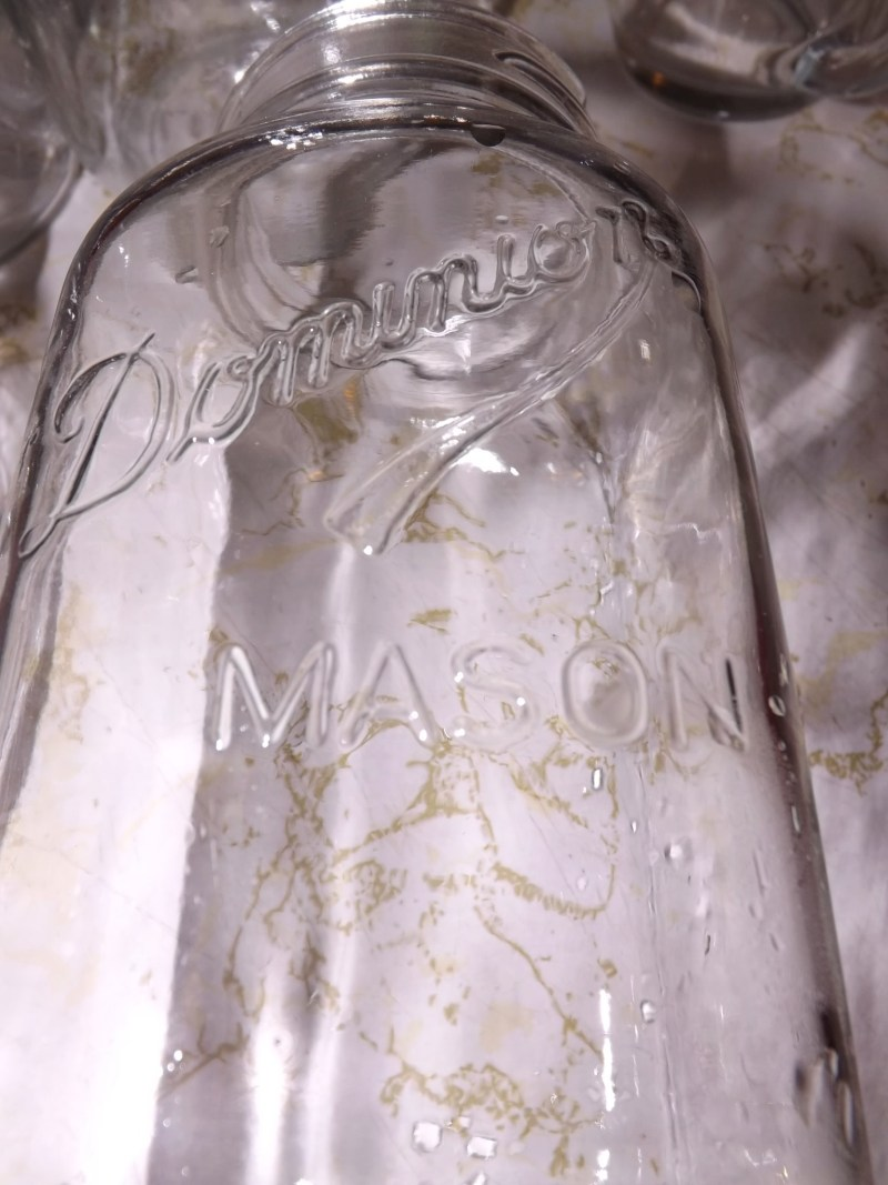 Dominion Mason jar.