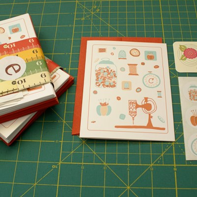 {pretty [sewing] notecards by Emily Ann Designs}