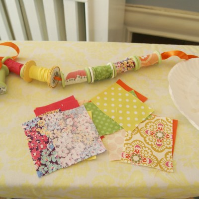{saturday craft: fabric-covered spools}