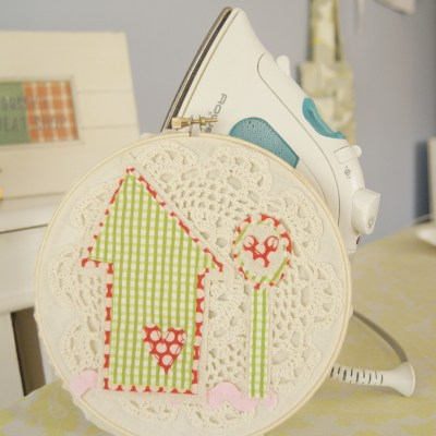 {the Spring Board — a quirky 'lil embroidery hoop house}