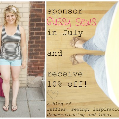 {a July sponsorship sale + a list of great blog posts}