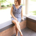 {What I Wore Wednesday — sassy red wedges + a ruffly dress}