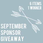 September sponsor giveaway: $340 in prizes