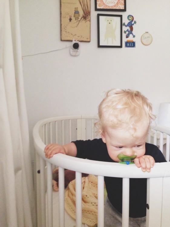 maxwell in crib