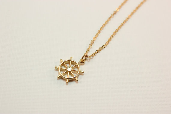 gold ship wheel necklace maggie whitley