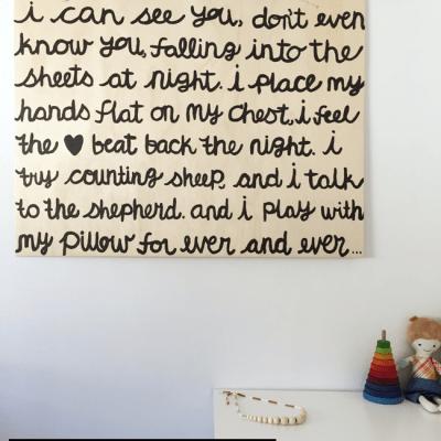 MAKE IT: hand-painted lyric art