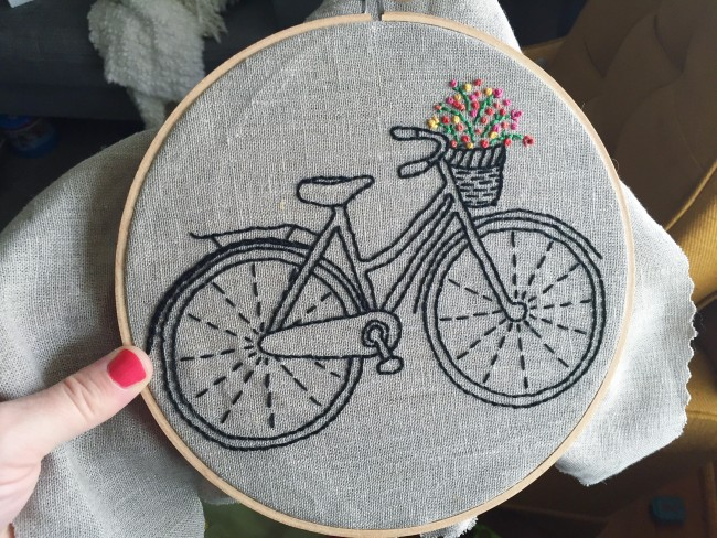 bicycle embroidery maggie whitley