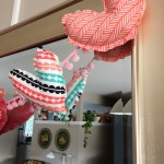 NEW IN THE SHOP: fabric heart garland