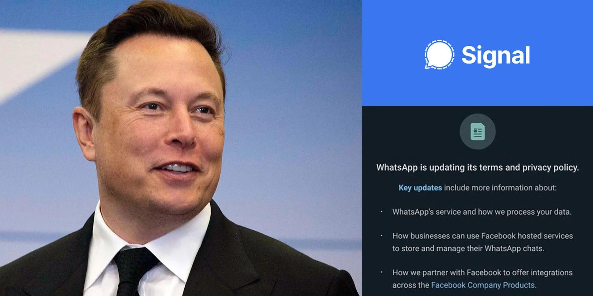 Signal messenger app sees huge downloads spike after Elon Musk ...