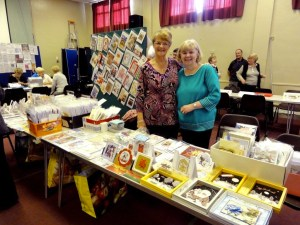 Joan and Val with another great Card Craft Group display