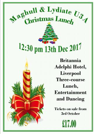 Christmas Lunch Poster 2