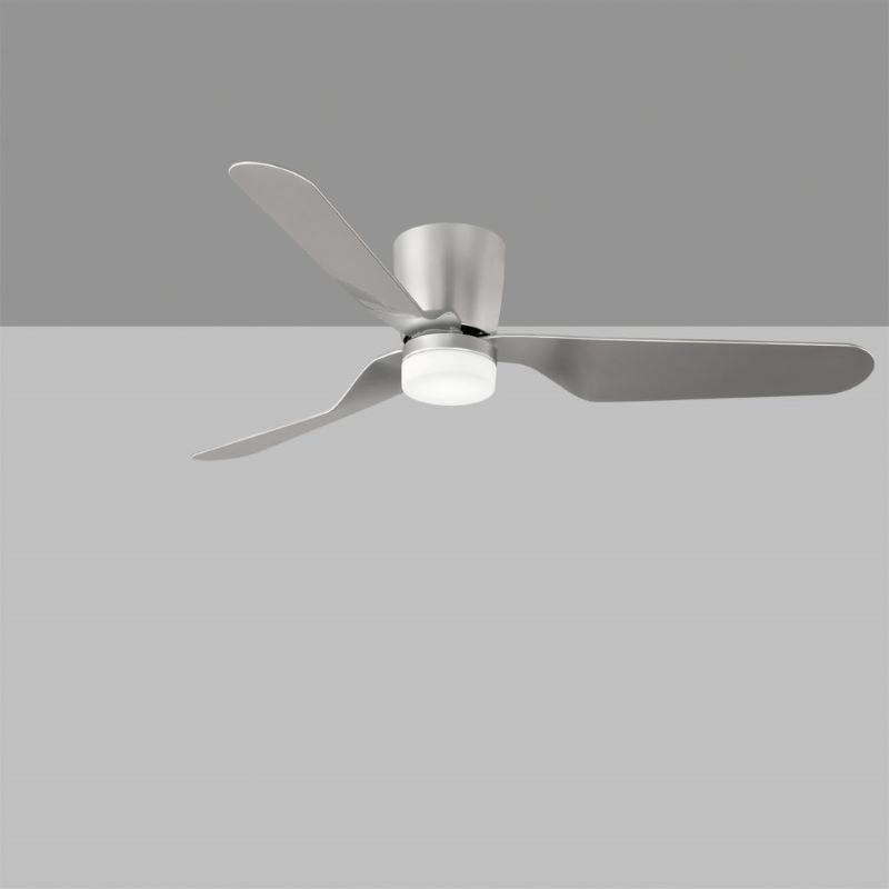 Ventilatore Brisa Argento O Bianco Led Integrato 15Wcon Telecomando Incluso