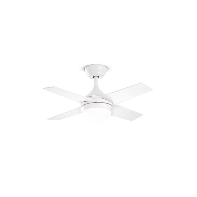 Ventilatore Crux Bianco Con Led Integrato 18W Con Telecomando Incluso