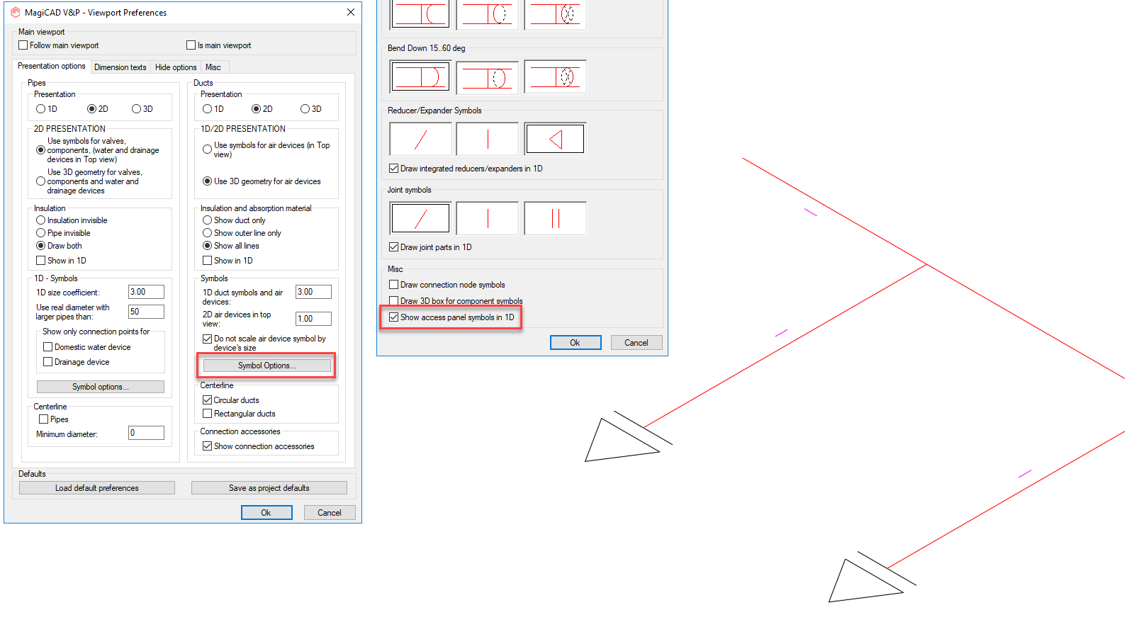 hight resolution of symbols can be displayed in both plan drawings and axonometric drawings and their orientation is determined by the handle direction of the actual access