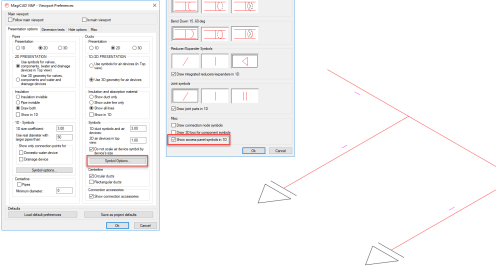 small resolution of symbols can be displayed in both plan drawings and axonometric drawings and their orientation is determined by the handle direction of the actual access