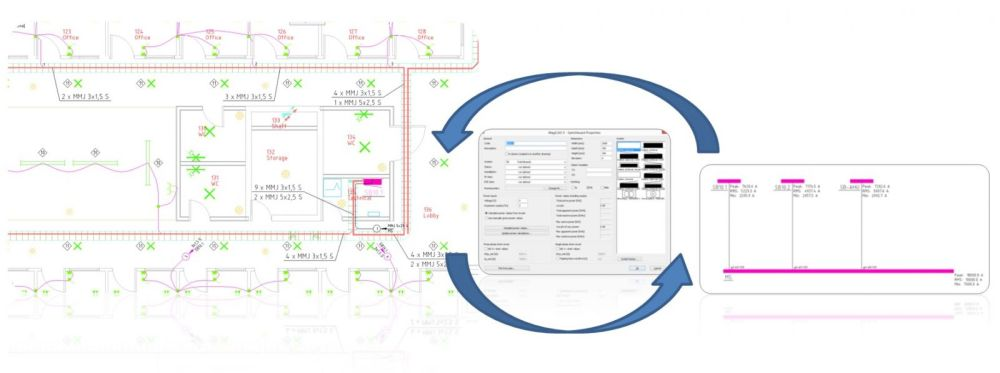 medium resolution of magicad electrical draw quickly and accurately in 2d or 3d magicad autocad conduit wiring diagram 2015