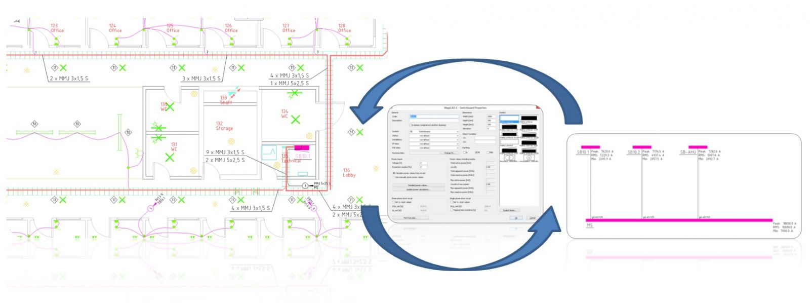 hight resolution of magicad electrical draw quickly and accurately in 2d or 3d magicad autocad conduit wiring diagram 2015