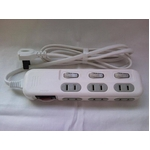 【ホワイト】 OAタップ 6個口 コンパクトで使いやすい HT06-844WH-2 ホワイト 2個セット