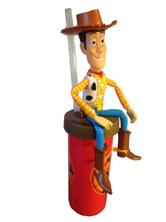 children play kitchen displays disney articulated cup with straw - woody toy story