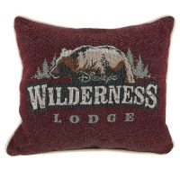 Disney Throw Pillow - Wilderness Lodge - Logo